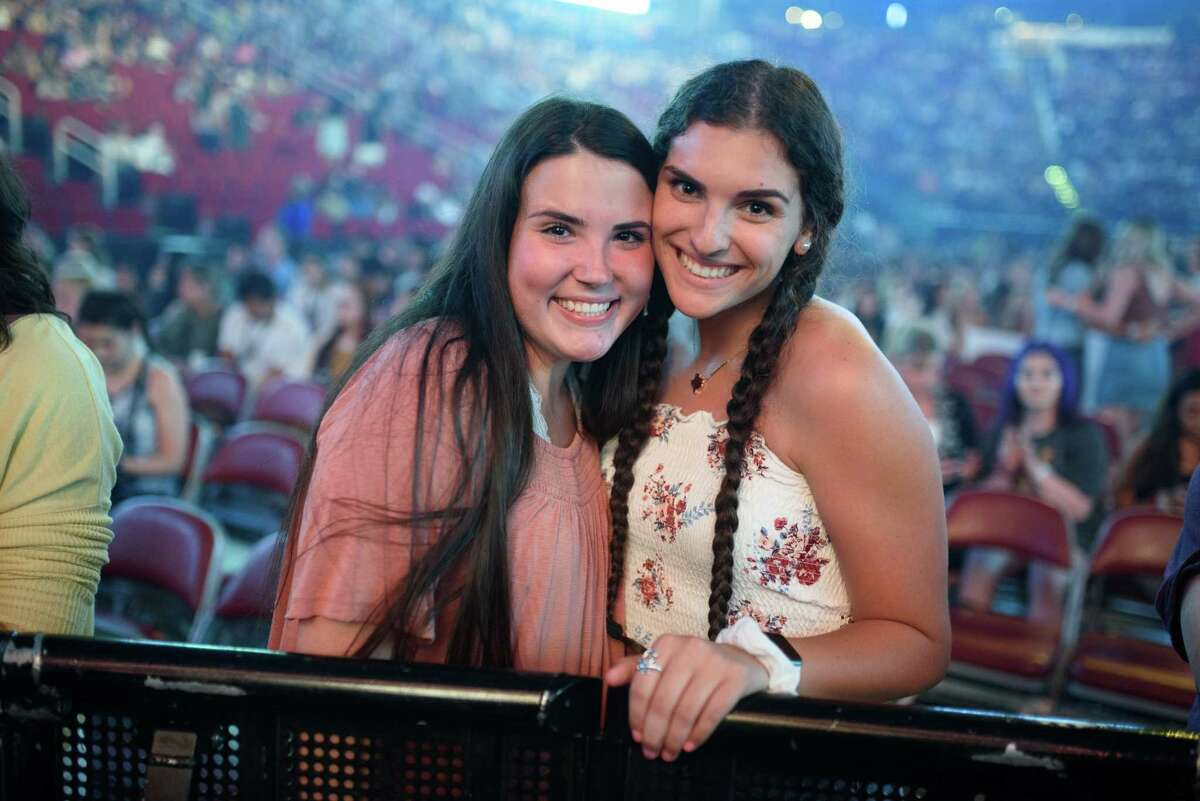 Fans at the Toyota Center for the Shawn Mendes concert in Downtown Houston on Thursday, July 25, 2019
