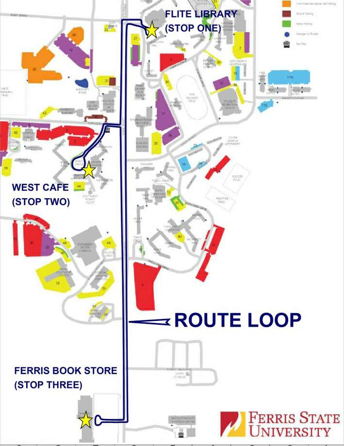 Ferris State Campus Map DART services at Ferris begin on Aug. 26   Big Rapids Pioneer