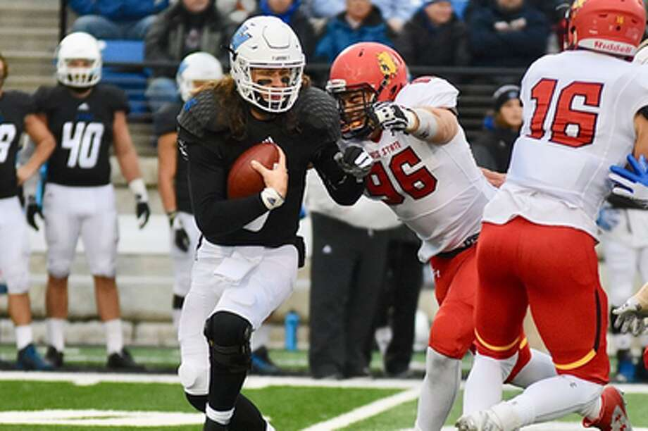 SACK BY ZACH: Ferris State's Zach Sieler (96) is a national semifinalist for the 2016 Cliff Harris Award. (Courtesy Photo/Ferris Athletics)
