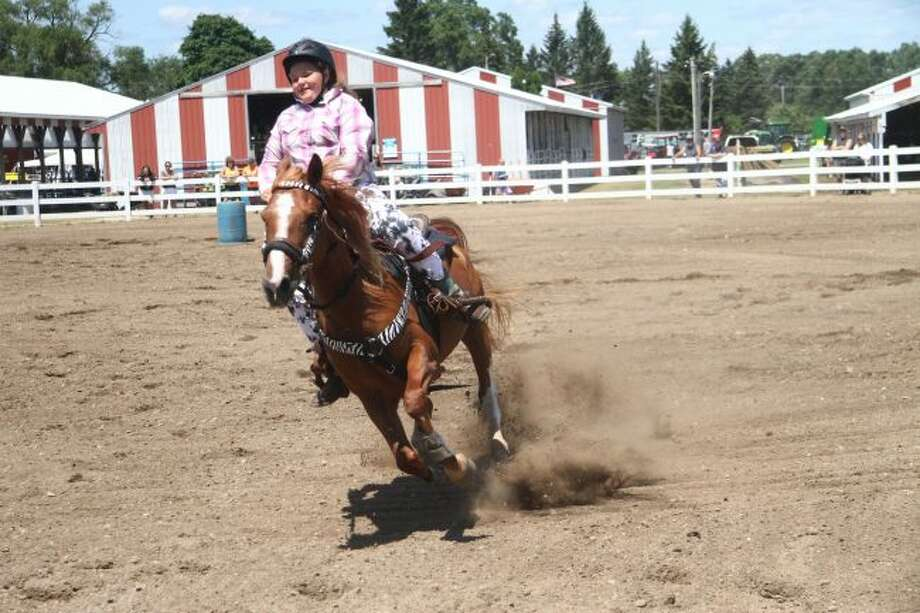 The Gymkhana class began at 8 a.m. Saturday and lasted most of the day at the Mecosta County Agricultural Free Fair. (Pioneer Photo/Brianne Twiddy)