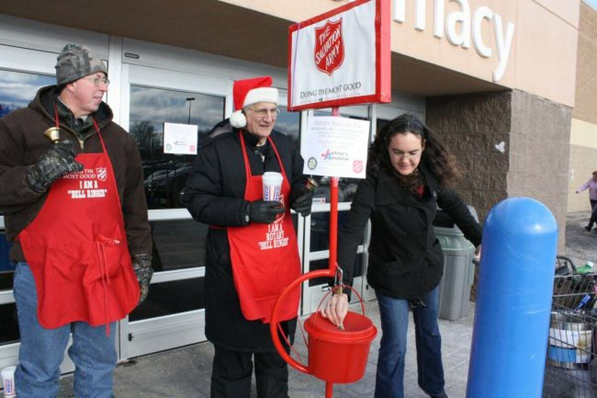 This year's Salvation Army Red Kettle Campaign begins Nov. 16 and runs through Dec. 23. Sign-ups to volunteer for a bellringing shift are now open. (Pioneer file photo)