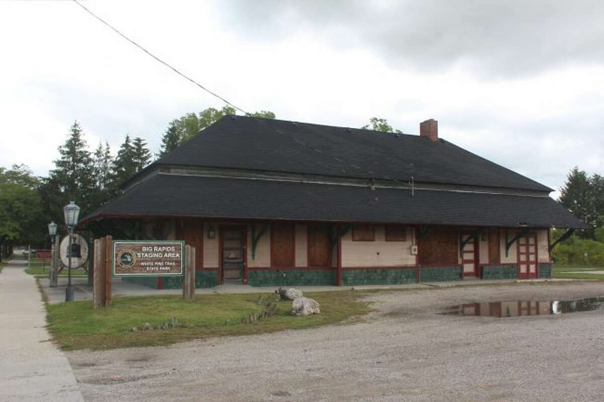 Big Rapids area residents have been brainstorming many ideas for the future of the city's old railroad depot since officials announced the possibility of purchasing the building and land from the state of Michigan. Among the ideas are a public community center, trail-focused business or recreation center or a privately owned business. (Pioneer file photo)