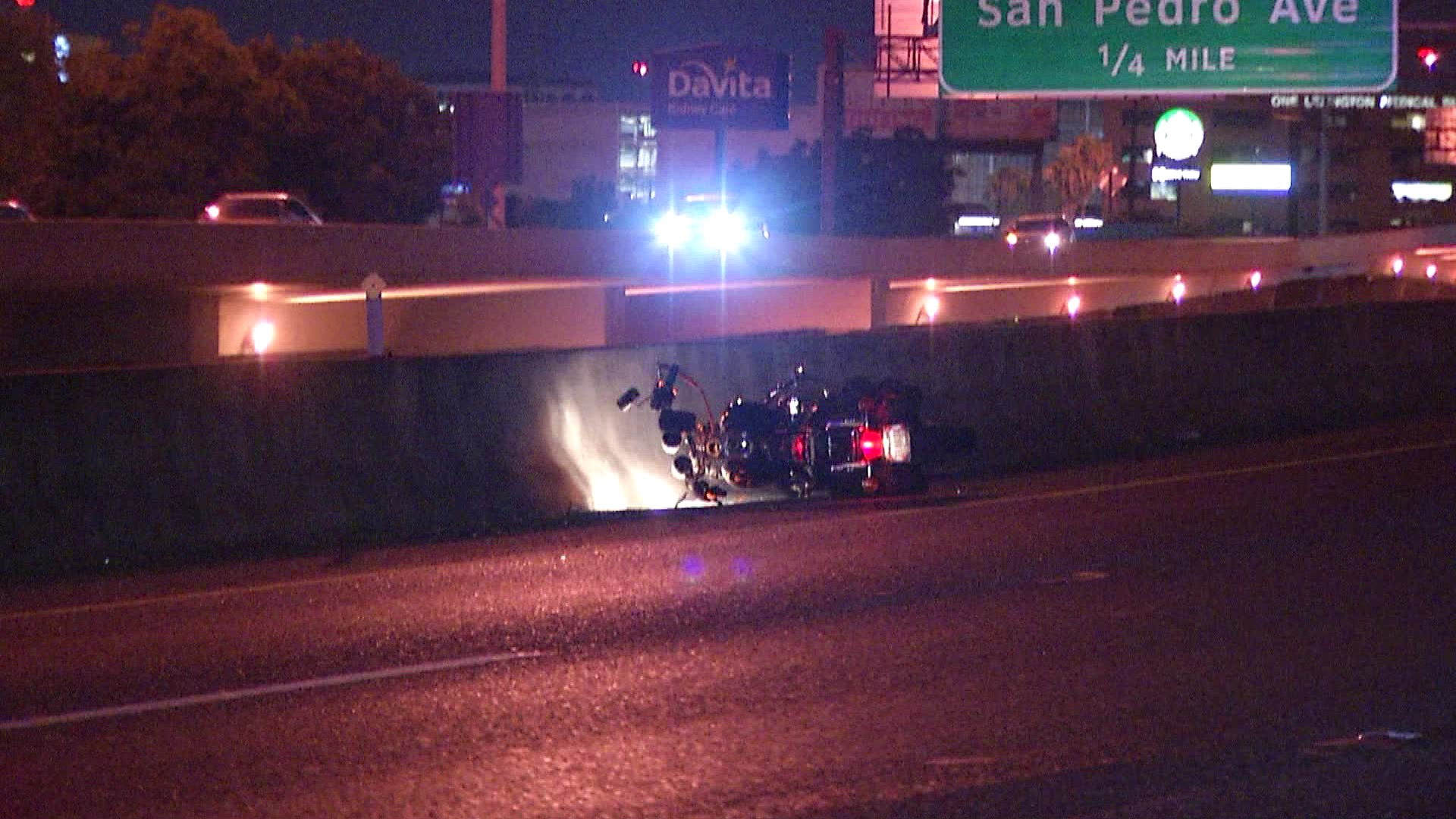 Motorcycle accident leaves a rider in serious condition