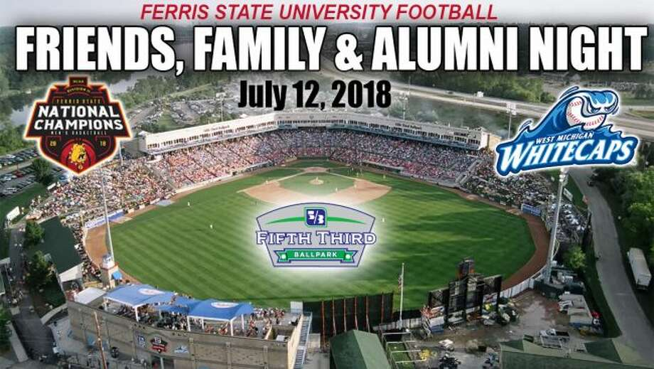 """The second annual """"FSU Friends, Family & Alumni Night"""" takes place on Thursday, July 12, at Fifth Third Ballpark in Comstock Park. (Photo courtesy of Ferris State Athletics)"""