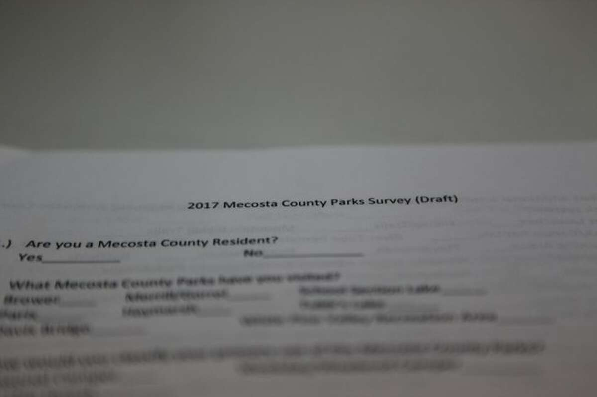 SURVEY SAYS: The draft of a survey was approved by the Mecosta County Parks Commission Tuesday. The survey will be sent to people who camped at any county campgrounds last year. (Pioneer photo/Meghan Haas)