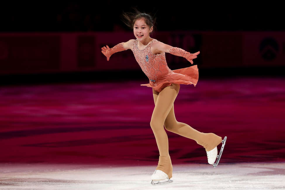 Alysa Liu skates in the skating spectacular exhibition following the 2019 U.S. Figure Skating Championships at Little Caesars Arena on January 27, 2019 in Detroit, Michigan. (Photo by Scott W. Grau/Icon Sportswire via Getty Images)