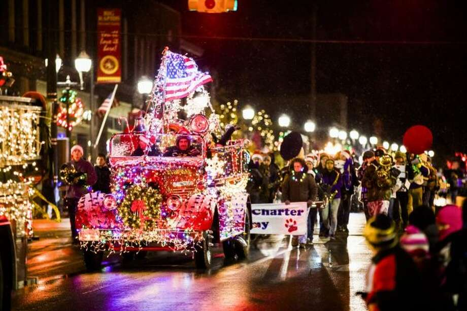The 2017 Festival of Lights parade will begin at 6 p.m. on Saturday, Nov. 18, at the library, with the parade heading north on Michigan Avenue. (Pioneer file photo)