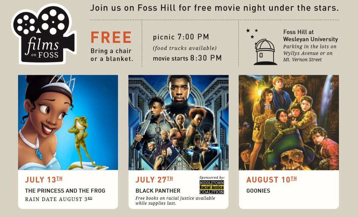 """The film, """"Black Panther,"""" will be screened Saturday at 7 p.m. at Wesleyan University's Foss Hill in Middletown. There is no charge."""