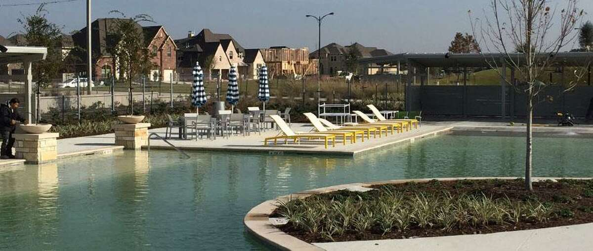 Pomona, a 1,000-acre community in Manvel, offers two large pools with cabanas as part of its amenities package. Toll Brothers will build homes in the community, which has sold close to 600 homes since home building began in Dec. 2015.