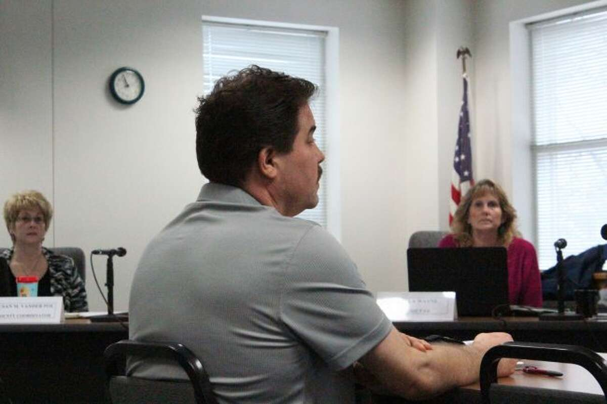 Osceola County Technology Coordinator JT Burgess speaks with the Osceola County Commissioners during a meeting earlier this year. Officials approved a new five-year contract with Merit at their meeting on Tuesday. The new contract increases data limits and bandwidth for government operations. (Pioneer File Photo)