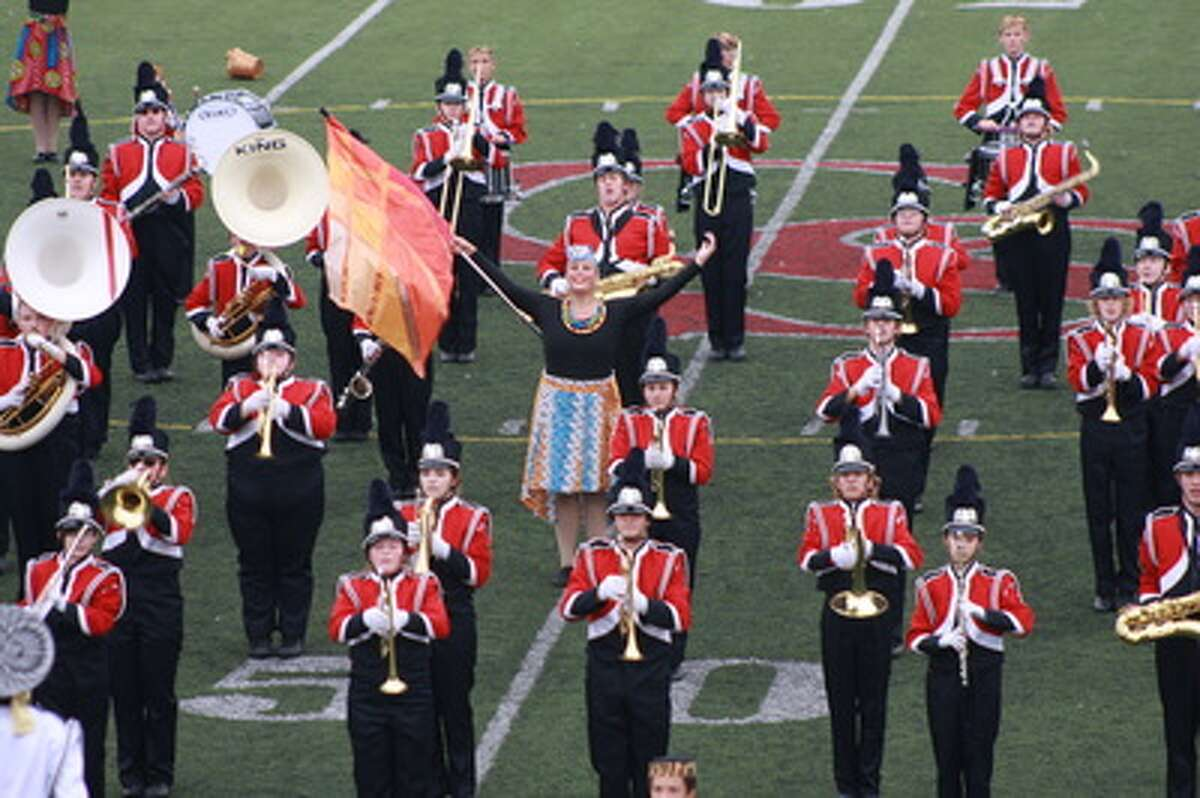 The 2016 Big Rapids High School marching band performs during a district band festival. Recently, the Big Rapids Public School district was recognized as one of only 17 Best Communities for Music Education in Michigan. (Courtesy photo)