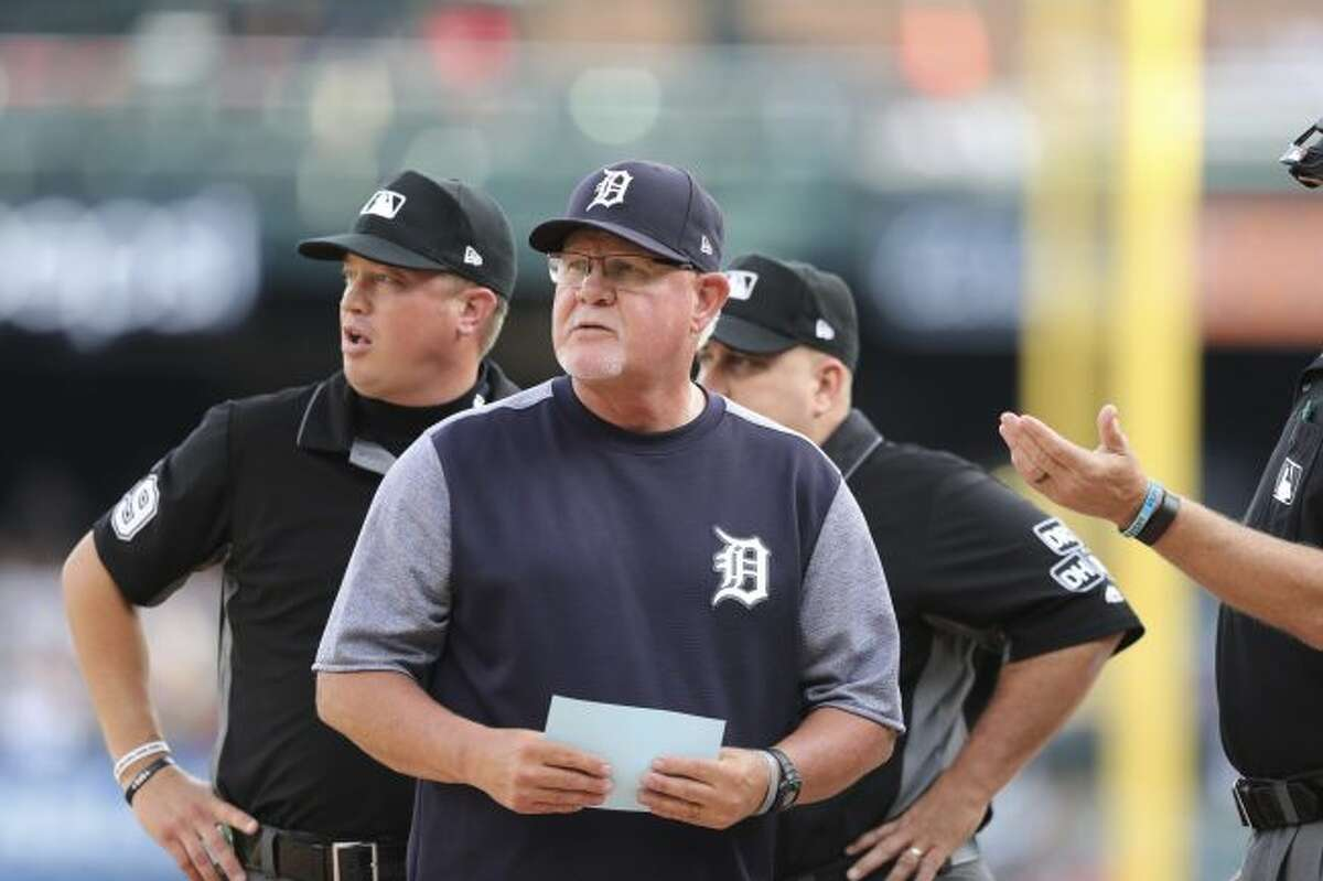 Detroit Tigers manager Ron Gardenhire is seen before the first inning of a baseball game against the Boston Red Sox, Friday, July 20, 2018, in Detroit. (AP Photo/Carlos Osorio)