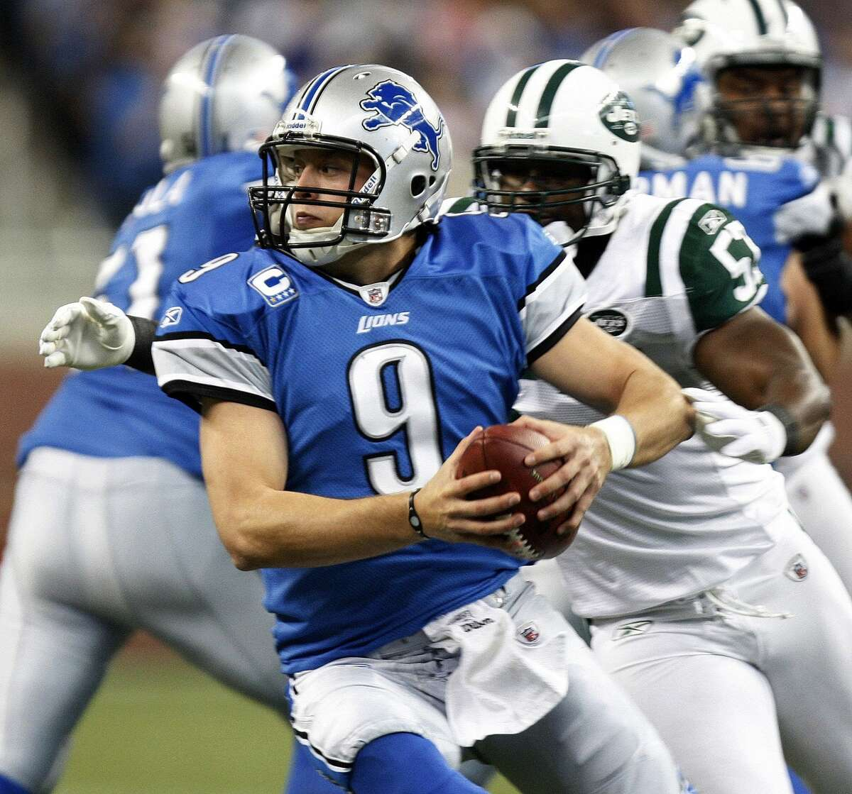Lions' QB Matthew Stafford holds most franchise passing records including yards (30,303), completions (2,634), attempts (4,285) and touchdowns (187). (Detroit Free Press photo)