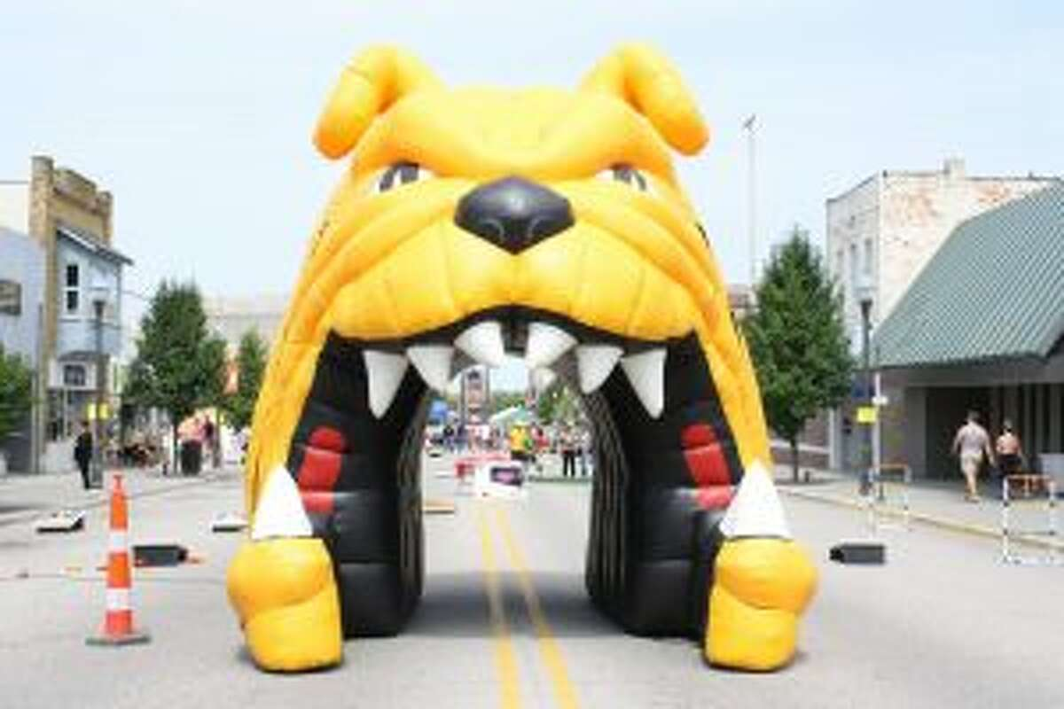 The inflatable archway featuring the Ferris State University bulldog mascot dominated part of Michigan Avenue during a previous Summer Fest. Summer Fest is designed with a focus toward the community from noon until 3 p.m., and the students from 3 to 6 p.m.