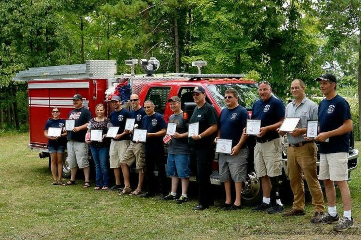 Members of the Hersey Volunteer Fire Department were recognized for their dedication to the Village of Hersey last year at a fireman's appreciation lunch. This year, an appreciation lunch will be held at 1 p.m. on Sunday, Aug. 26, at Mosaic Park in Hersey. (Courtesy photo)