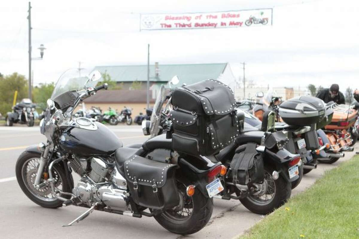 Each year, on the third Sunday of May, hundreds of motorcycle enthusiasts descend upon Baldwin to meet with friends, admire different bikes and receive a blessing for a safe riding season.