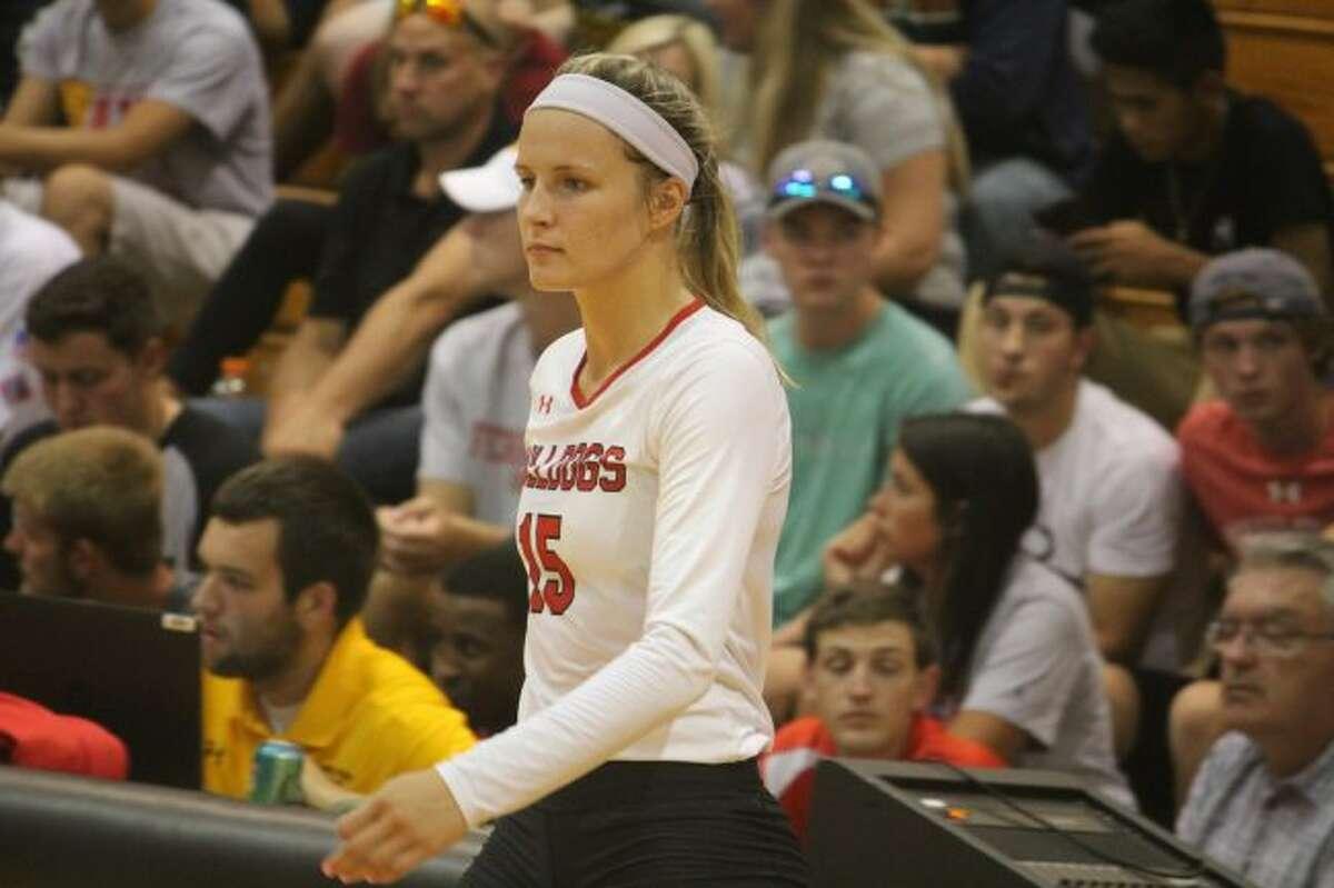 Morley Stanwood native Mekaya Carey is in her junior season for Ferris State's volleyball team. (Pioneer photo/John Raffel)