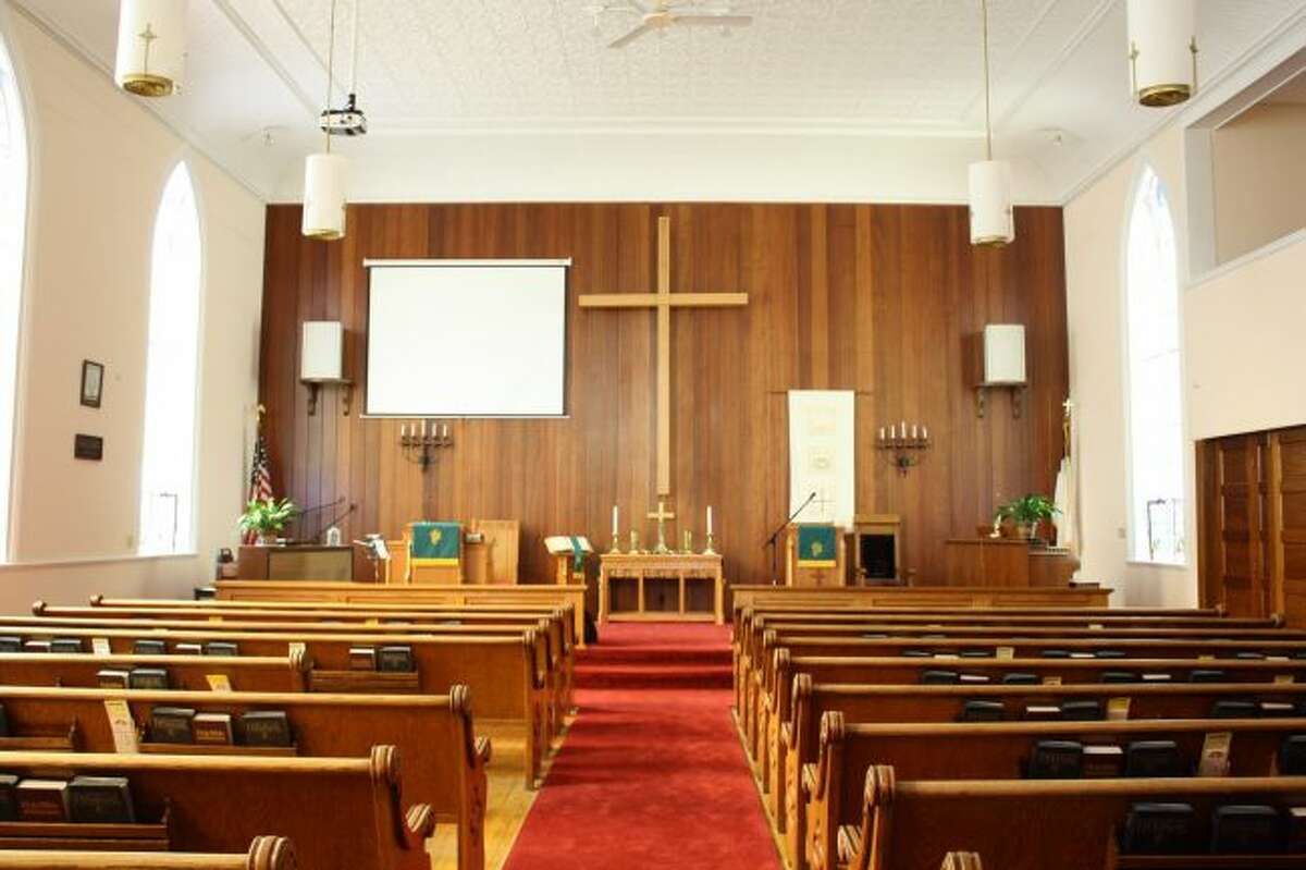 The sanctuary of Hersey United Methodist Church will fill with the congregation and special guests during the 150th anniversary celebration on Sunday, Sept. 10. (Pioneer photo/Candy Allan)