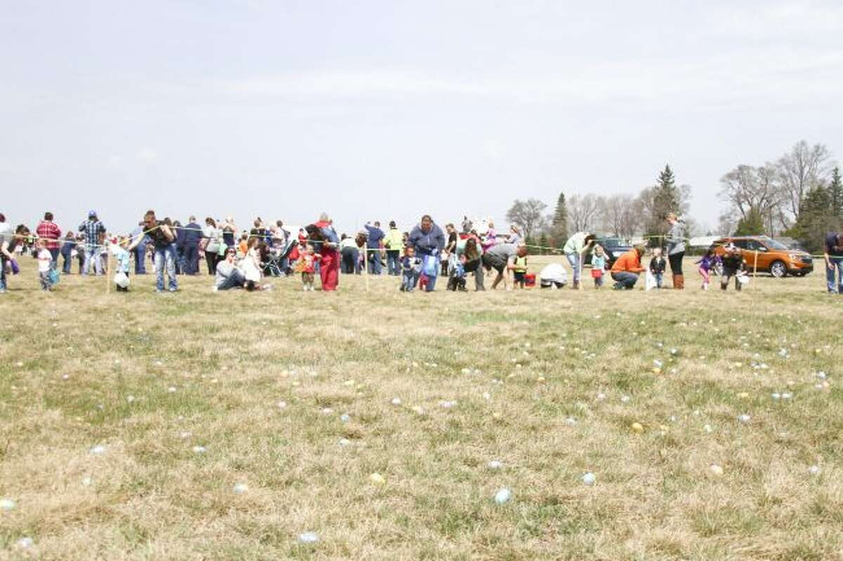 Thousands attended last year's Big Rapids Easter egg hunt, hosted by the Big Rapids Elks No. 974, at the Roben-Hood Airport. This year's event will take place at 1 p.m., on Saturday, March 31, at the airport.