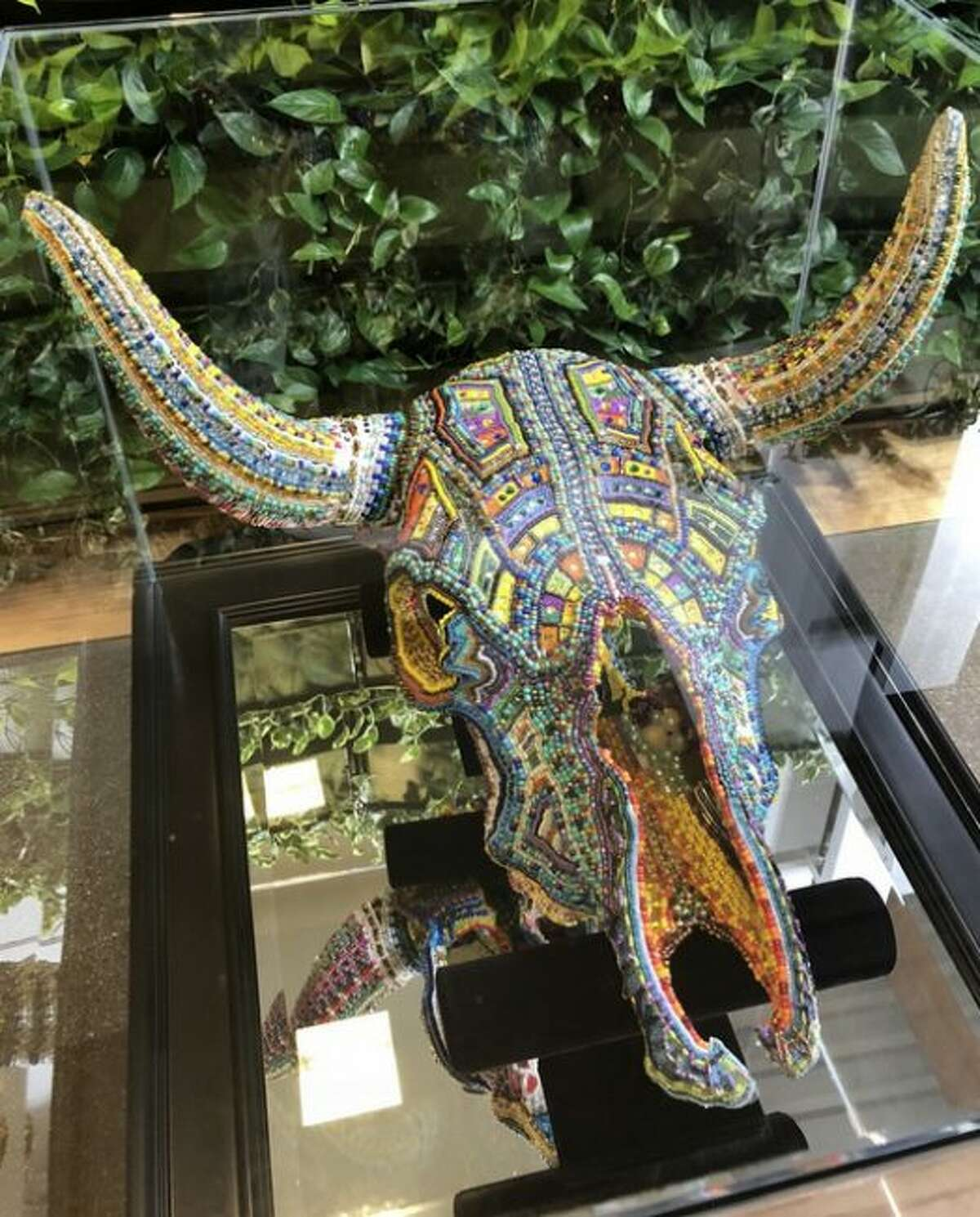 David Watson's Hand Beaded Cow Skull was on display during the 2018 ArtPrize. Project 1 is a new event set up by officials on opposite years of the competition. (Courtesy photo)