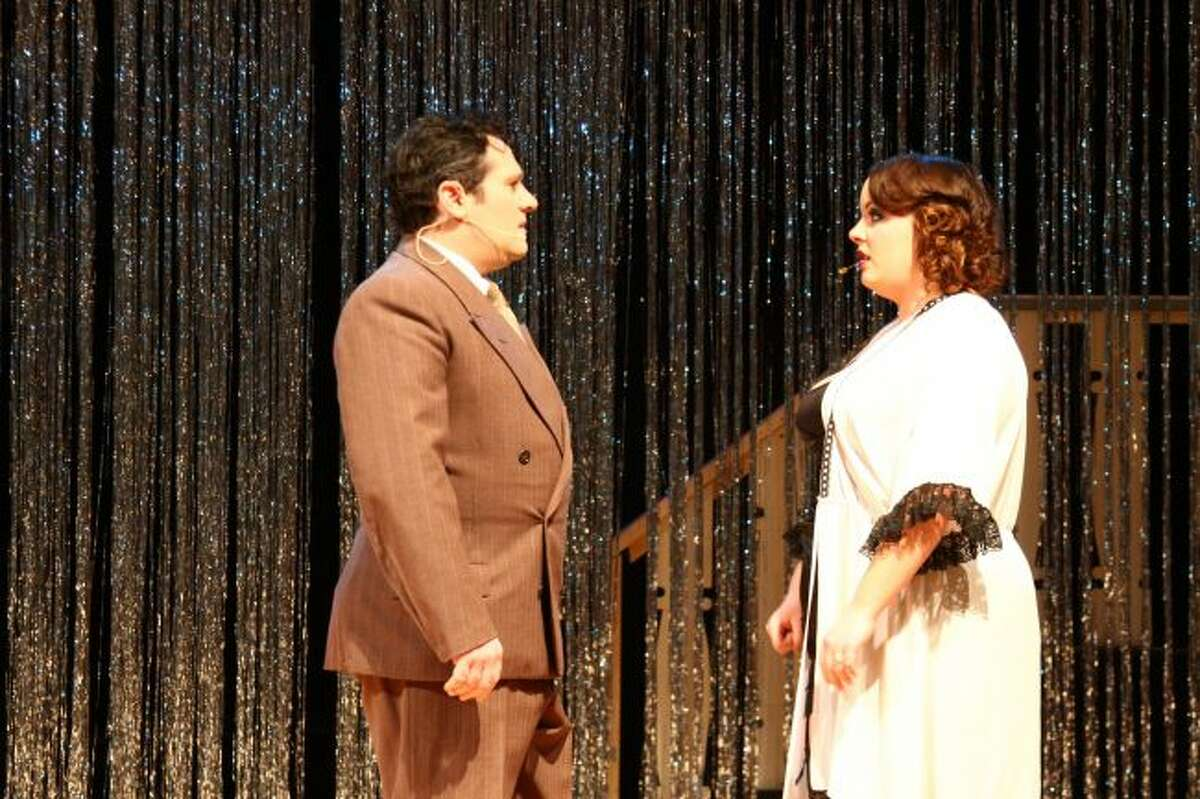 SERIOUS TALKS: Cliff, portrayed by Zak Krebs, speaks with Sally, played by Tillie Dorgan.
