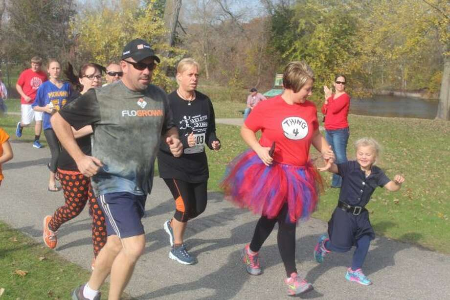 The Skeleton Skurry 5K is set to begin at 3 p.m. on Saturday, Oct. 28. The annual race benefits Mecosta-Osceola United Way. (Pioneer file photo)