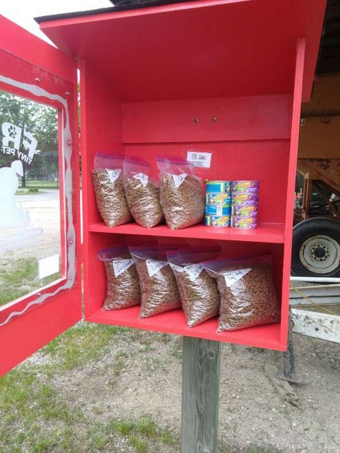 Big Rapids Farm and Garden recently installed a Free Tiny Pet Pantry outside of its store, 310 N. Fourth Ave. (Courtesy photo)