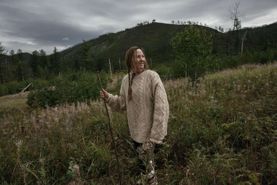 """Brooke Whipple on location in Mongolia for season five of History Channel's """"Alone"""" in 2017. Whipple participated in seasons four and five of the survival show and said it was an incredible experience. (Courtesy photo/Patrick T. Fallon)"""