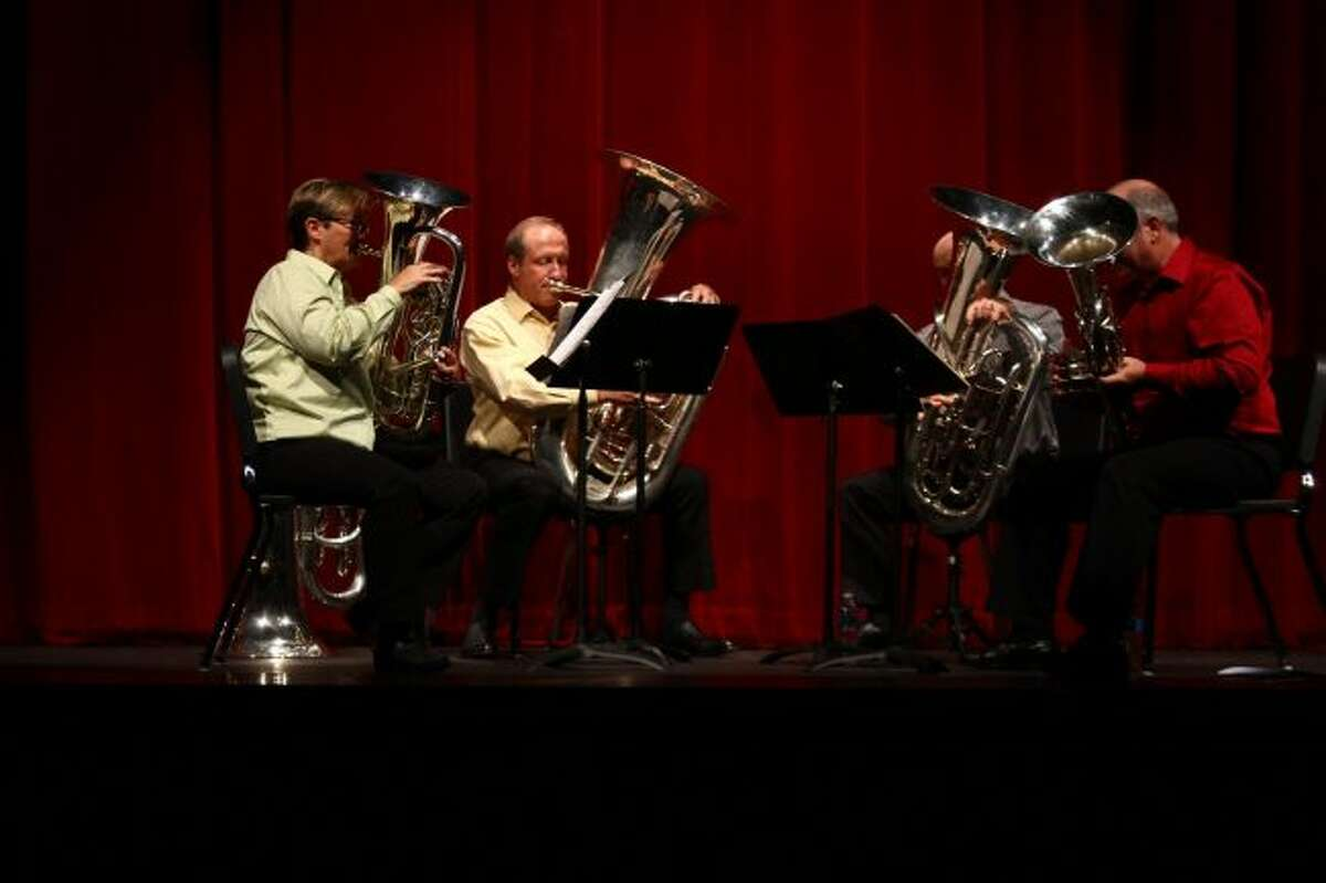The Tuba Bach Quartet, pictured in a 2016 performance, will be in concert on Saturday, Sept. 23, and Sunday, Sept. 24. (Pioneer file photo)