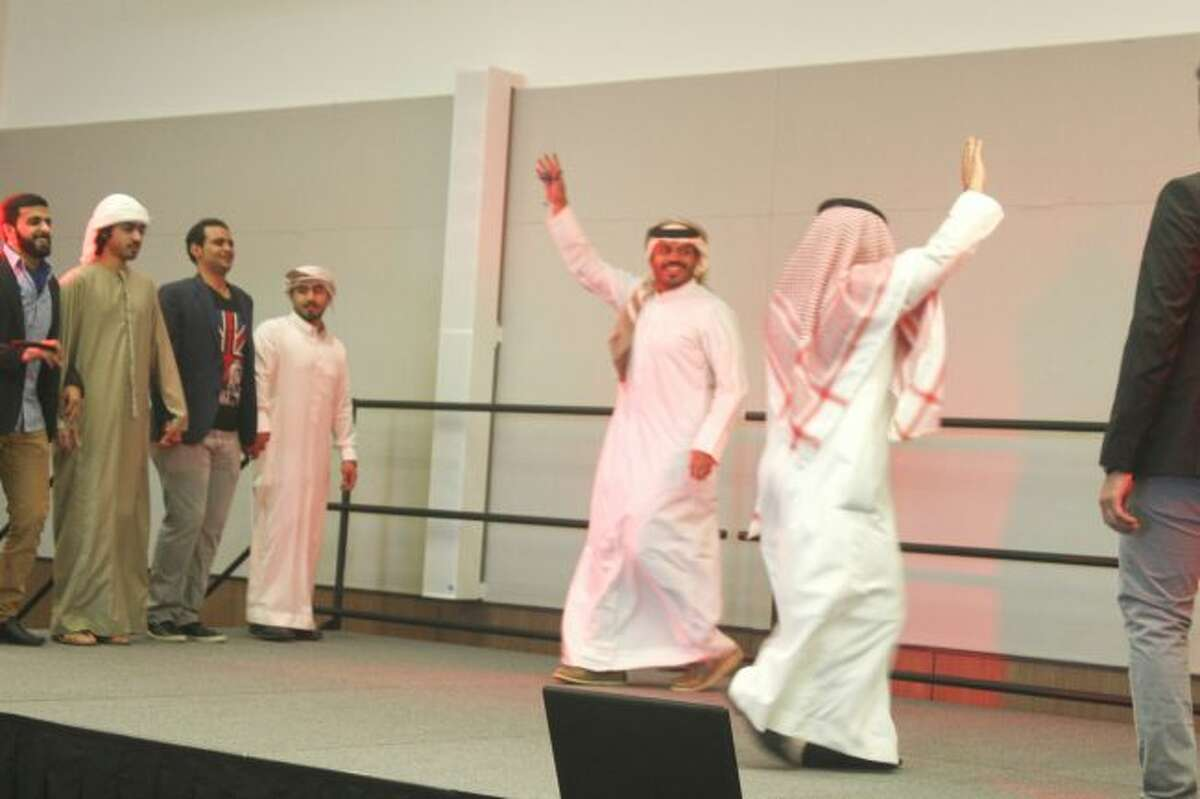 DANCE: Students from Saudi Arabia perform a traditional dance. (Pioneer photo/Shanna Avery)