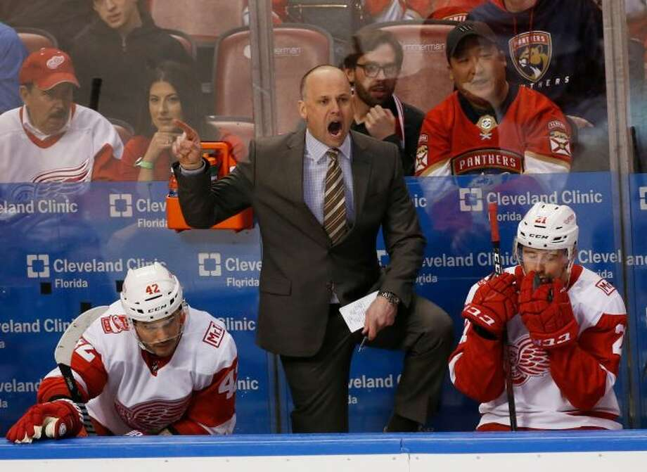 Jeff Blashill is in his fourth season as Red Wings head coach (AP Photo/Wilfredo Lee, File)