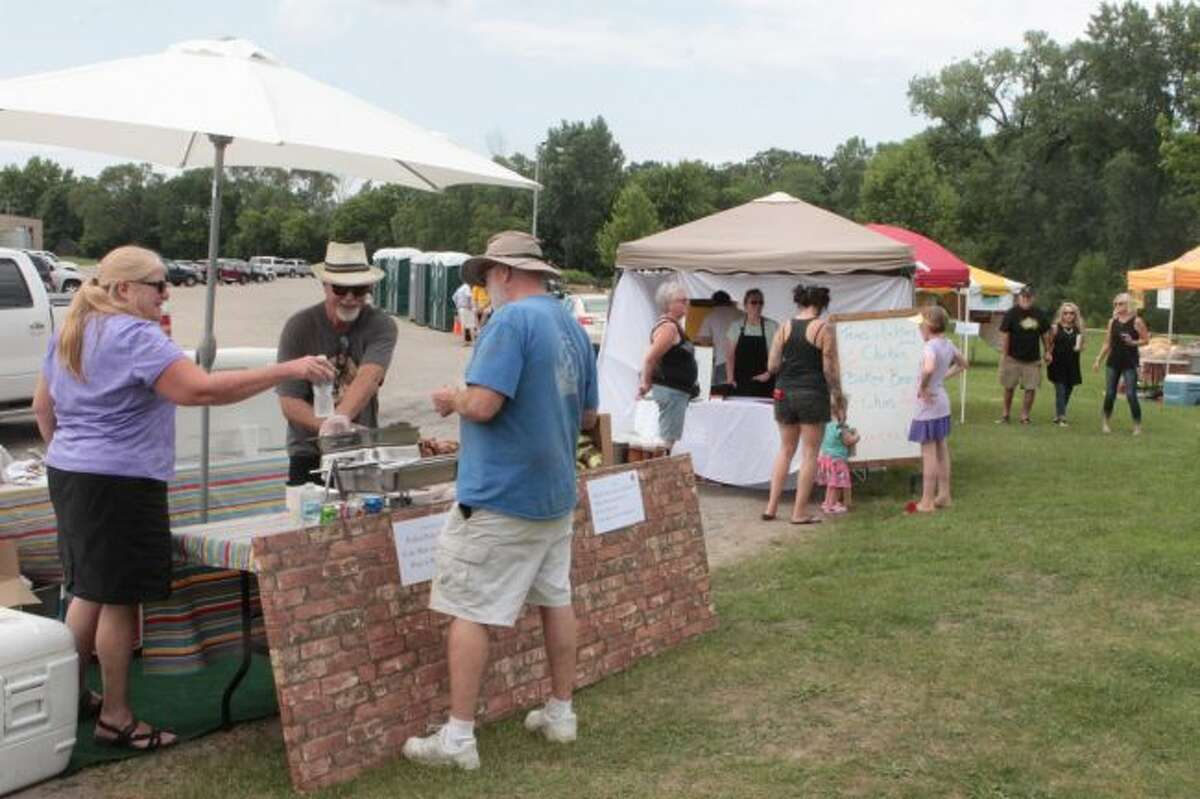 Several local vendors set up booths on Saturday to serve a variety of tasty treats, including Raven Brewing and Barbecue, Cranker's Brewery and Three Girls Bakery.