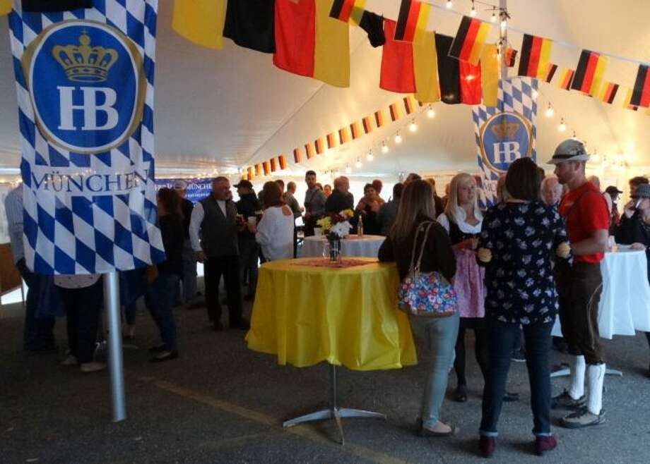 Hundreds gathered at St. Peter's Lutheran Church in Big Rapids for the 13th annual Germanfest to enjoy a night of dinner, dancing and authentic German beer and wine. (Pioneer photos/Taylor Fussman)