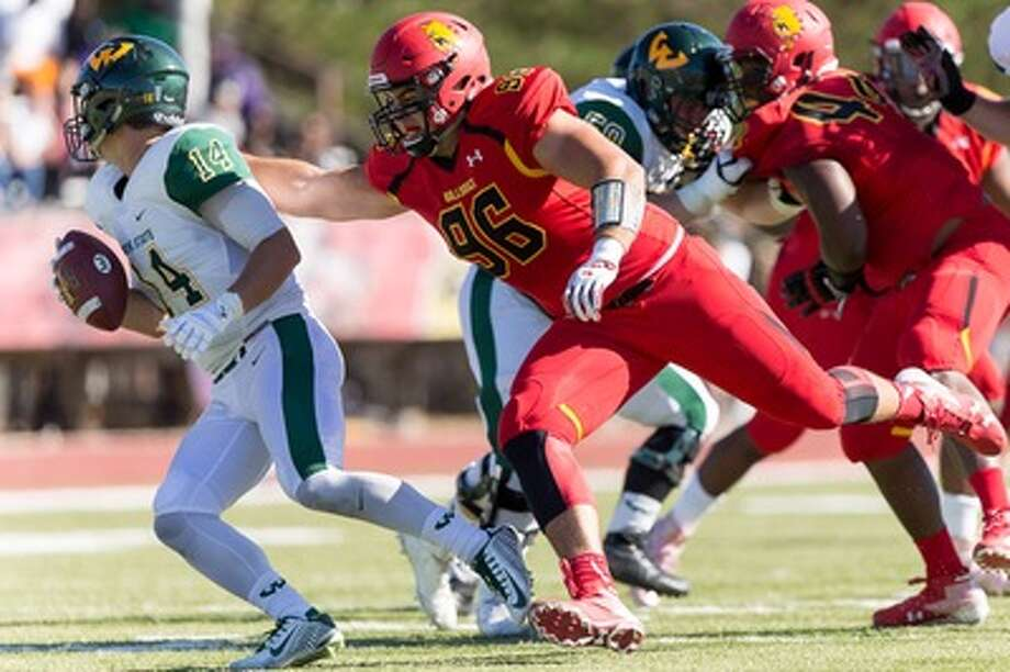 Former FSU star Zach Sieler tallied 176 total tackles, 33 sacks, and 58 tackles for loss during his career. (Photo courtesy of Ferris State Athletics)