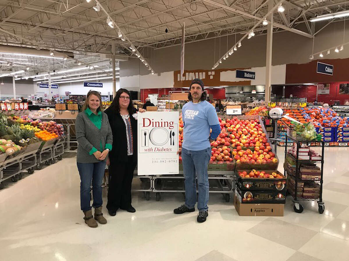 Meijer recently donated $1,000 to the Michigan State University Extension Dining with Diabetes program. Pictured are (from left) Pam Daniels, MSU Extension educator; Kathryn Wolever, Meijer store representative; and Don Zimmer, MSUE executive chef. (Courtesy photo)