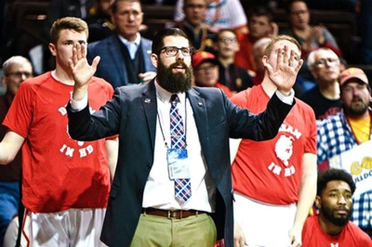 After Saturday evening, Andy Bronkema's beard will be no more. (Photo courtesy of Ferris State Athletics)