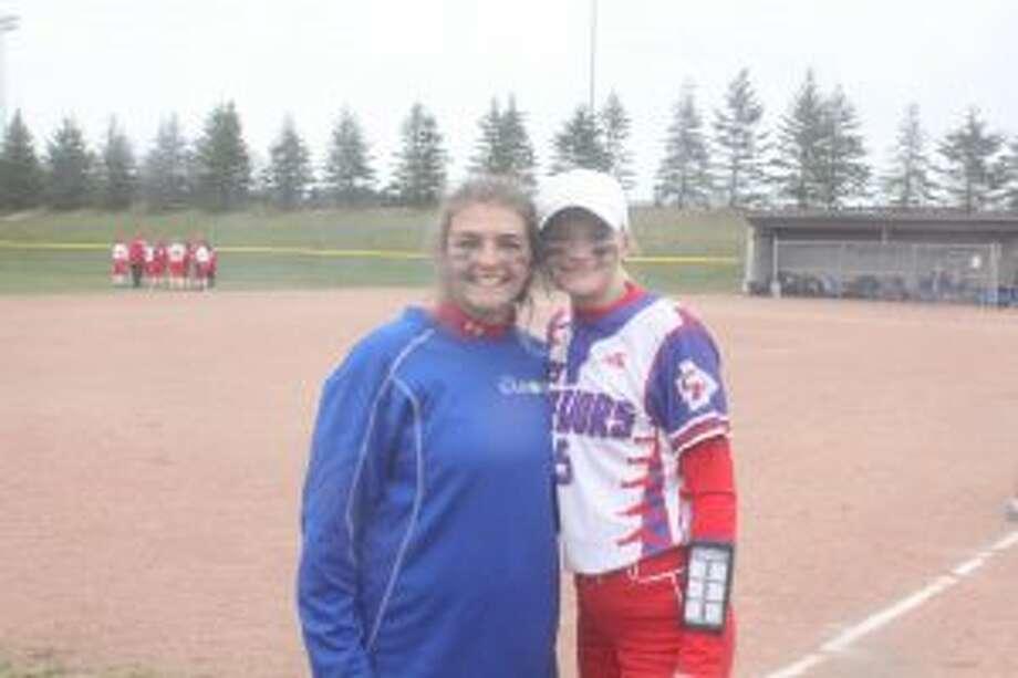 Morgan (left) and Megan Perkins had a big season for Chippewa Hills.