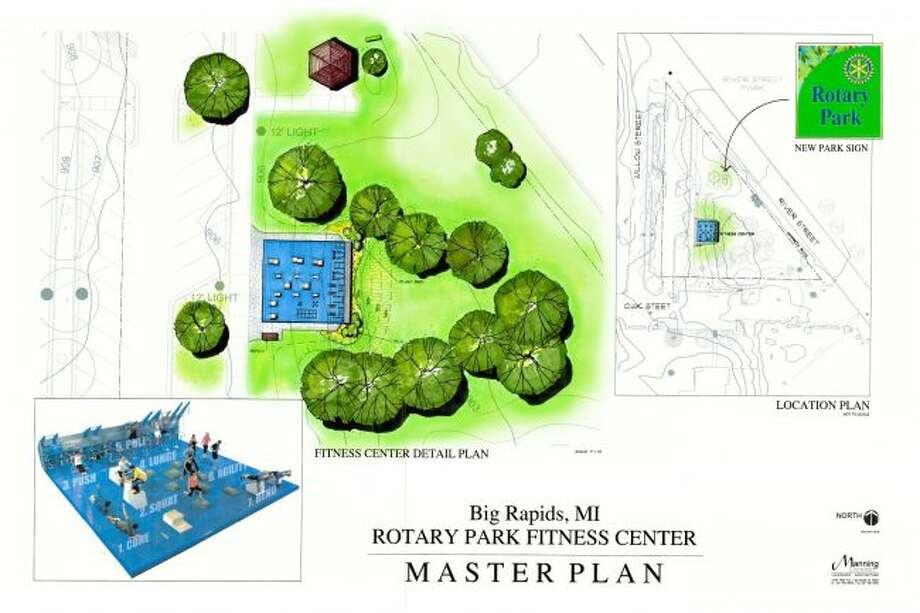 The City of Big Rapids is working with partner organizations to bring a new option for recreation and fitness to the city through a crowdfunding campaign to fund the development of an outdoor fitness court at Rotary Park. The goal of the campaign is to raise $45,000 by Oct. 22. (Courtesy photo)