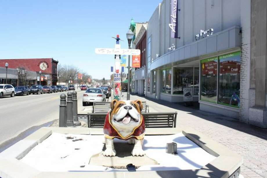 Downtown Big Rapids is a nominee in the America's Main Streets contest, vying for $25,000 cash and other prizes. Moving forward depends on online votes, which can be placed once every 24 hours at the contest website. (Pioneer photo/Candy Allan)