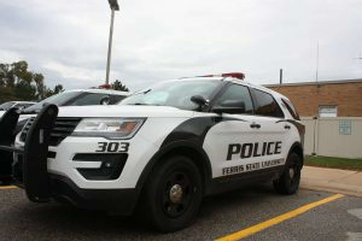 A Ferris State University Police car is pictured last week. The school recently released its annual crime report for 2017. (Pioneer photo/Tim Rath)