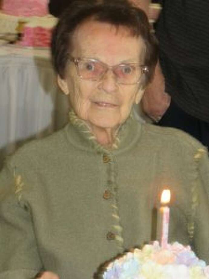 Elaine Baumunk's family treated her to a surprise party for her 95th birthday. (Courtesy photo)