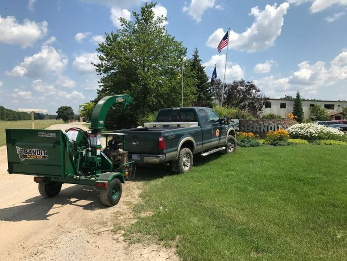 Bandit Industries recently donated this self-powered, industrial strength wood chipper to the Mecosta County Park Commission for use at the county parks. The wood chipper will enable the parks to make many improvements. (Courtesy photo)