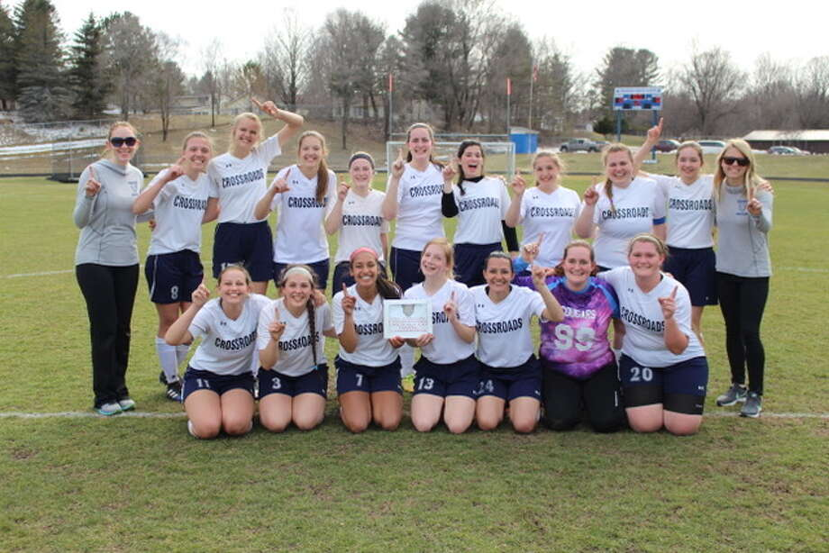 Crossroads won its home soccer tournament on Saturday.