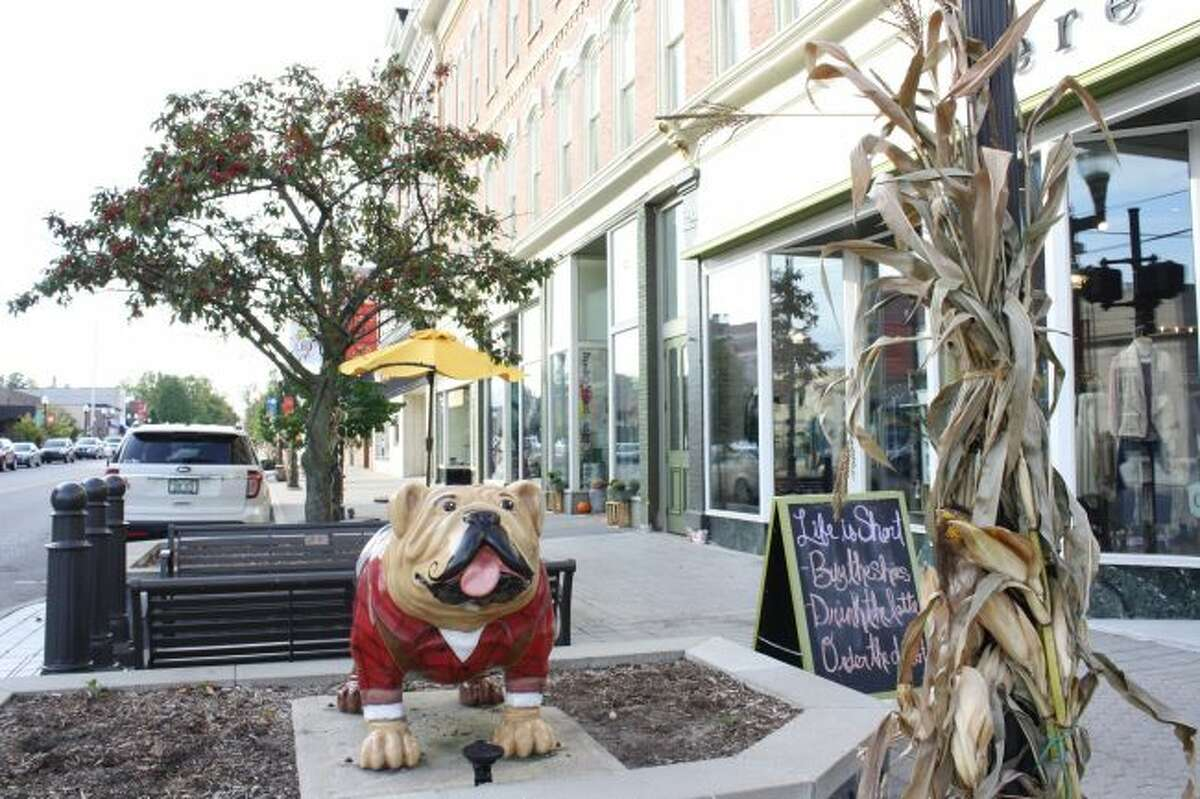While visitors to Big Rapids may notice the bulldog statues around town, a nod to the Ferris State University mascot, another feature of the area that makes it unique are the small locally owned businesses in the area. (Pioneer photo/Candy Allan)