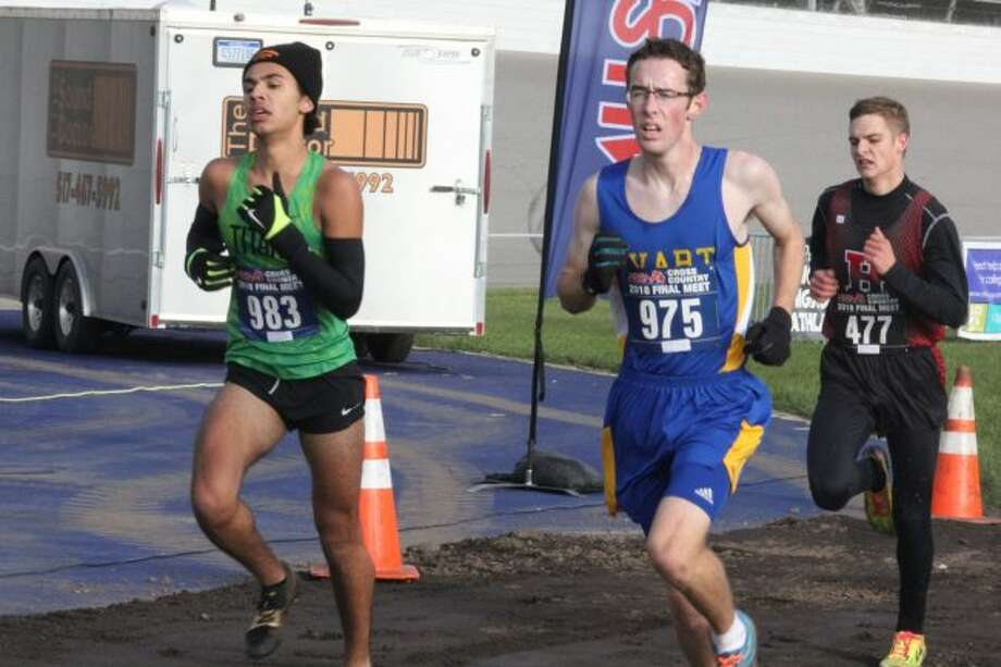 Evart's Austin Hamilton was all-state in cross country and a state qualifier in track. (Pioneer photo/John Raffel)