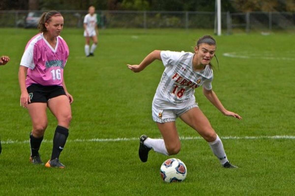 Ferris State's Bri Rogers notched four total points and nine shots in the weekend with a game-winning goal and four shots on net. (Photo courtesy of Ferris State Athletics)