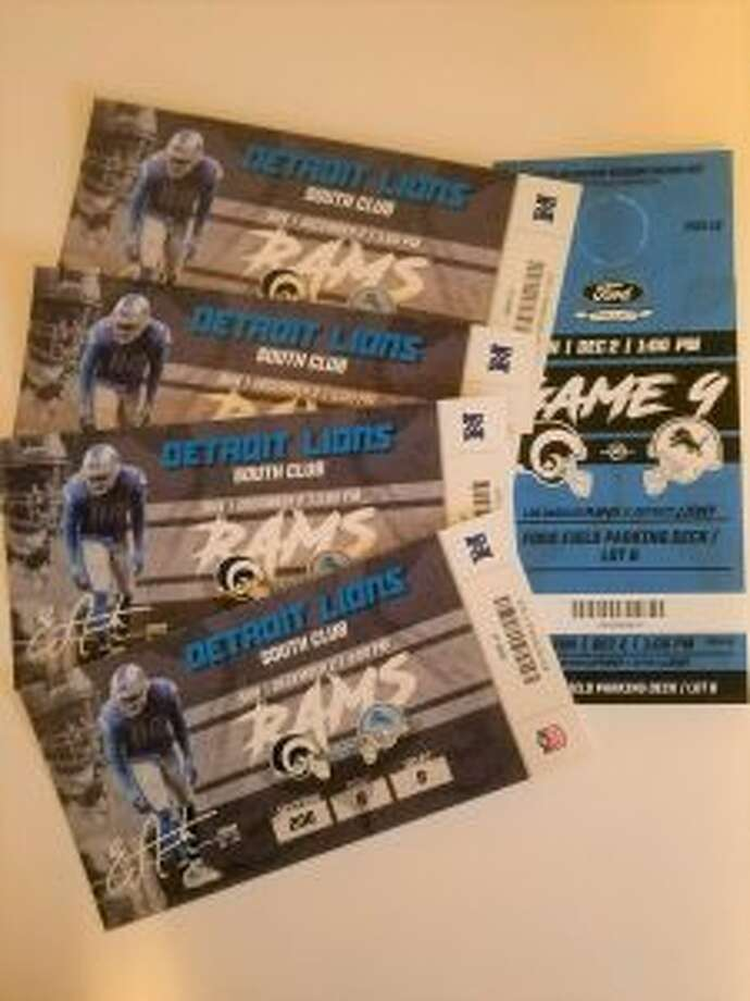 The 28th annual Mecosta-Osceola United Way auction is set for Thursday, Oct. 18. One of the many items up for bidding is a set of four club seat tickets to see the Lions take on the Los Angeles Rams. (Courtesy photo)