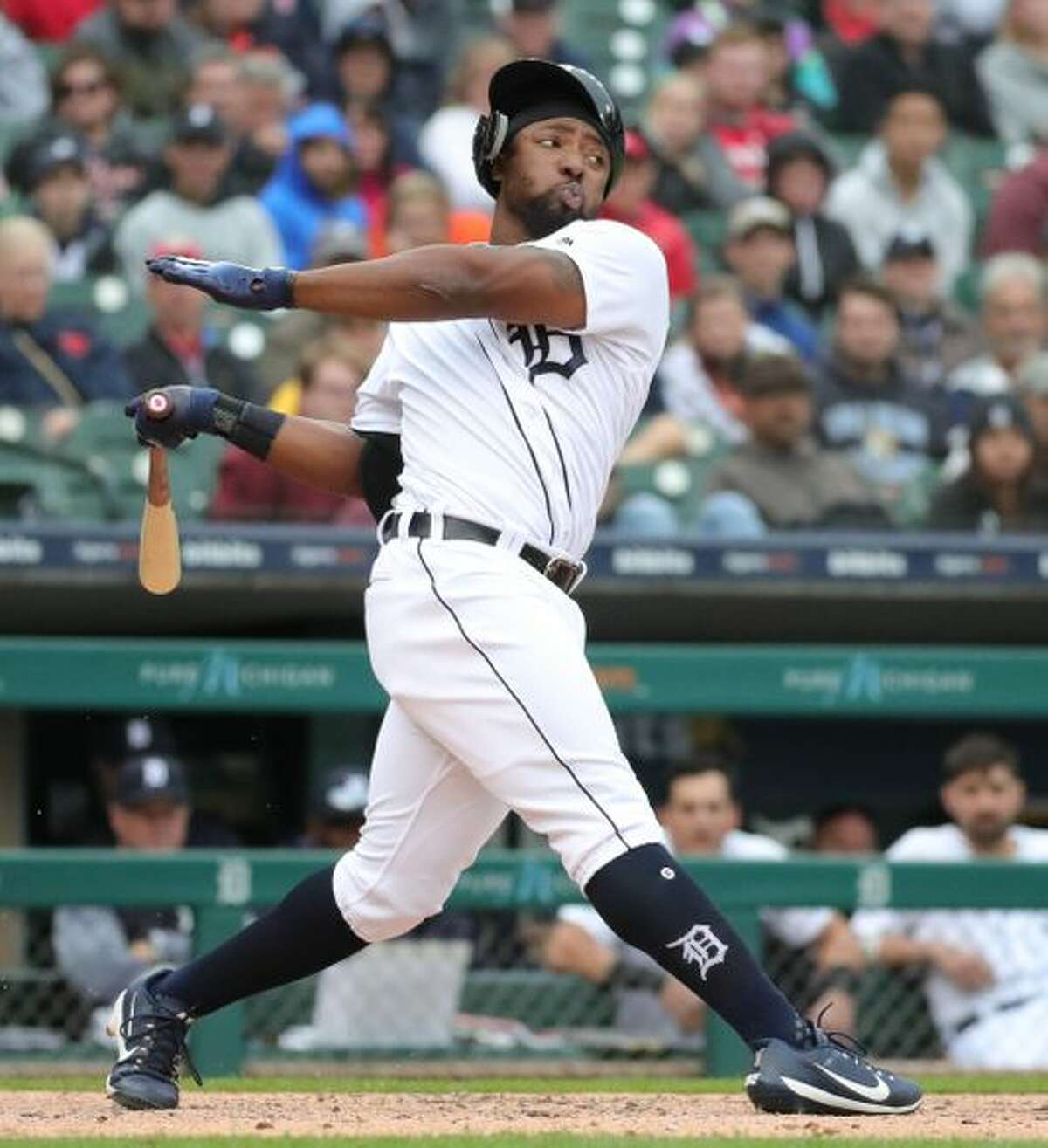 Detroit Tigers' Christin Stewart bats against the St. Louis Cardinals during the ninth inning Sunday, Sept. 9, 2018, at Comerica Park in Detroit. (Photo: Kirthmon F. Dozier, Detroit Free Press)