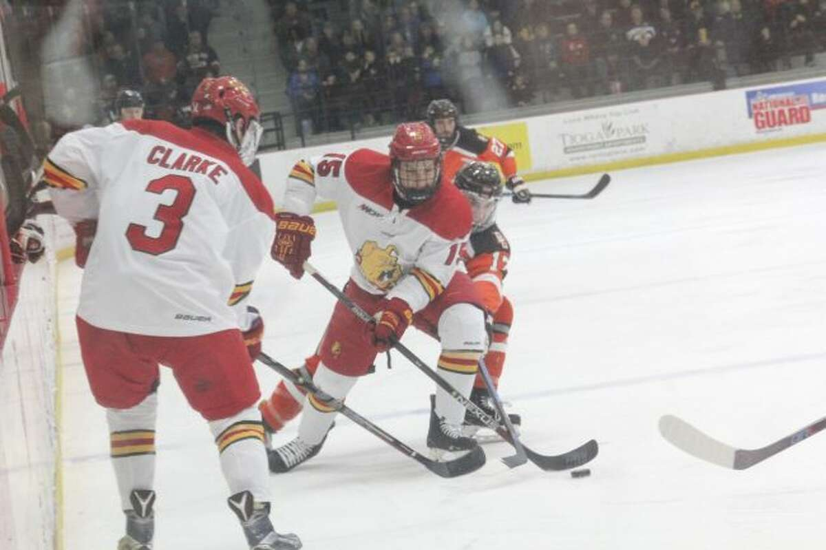 Ferris senior Mitch Maloney (15) is expected to be among the Bulldogs' top point producers. (Pioneer file photo)
