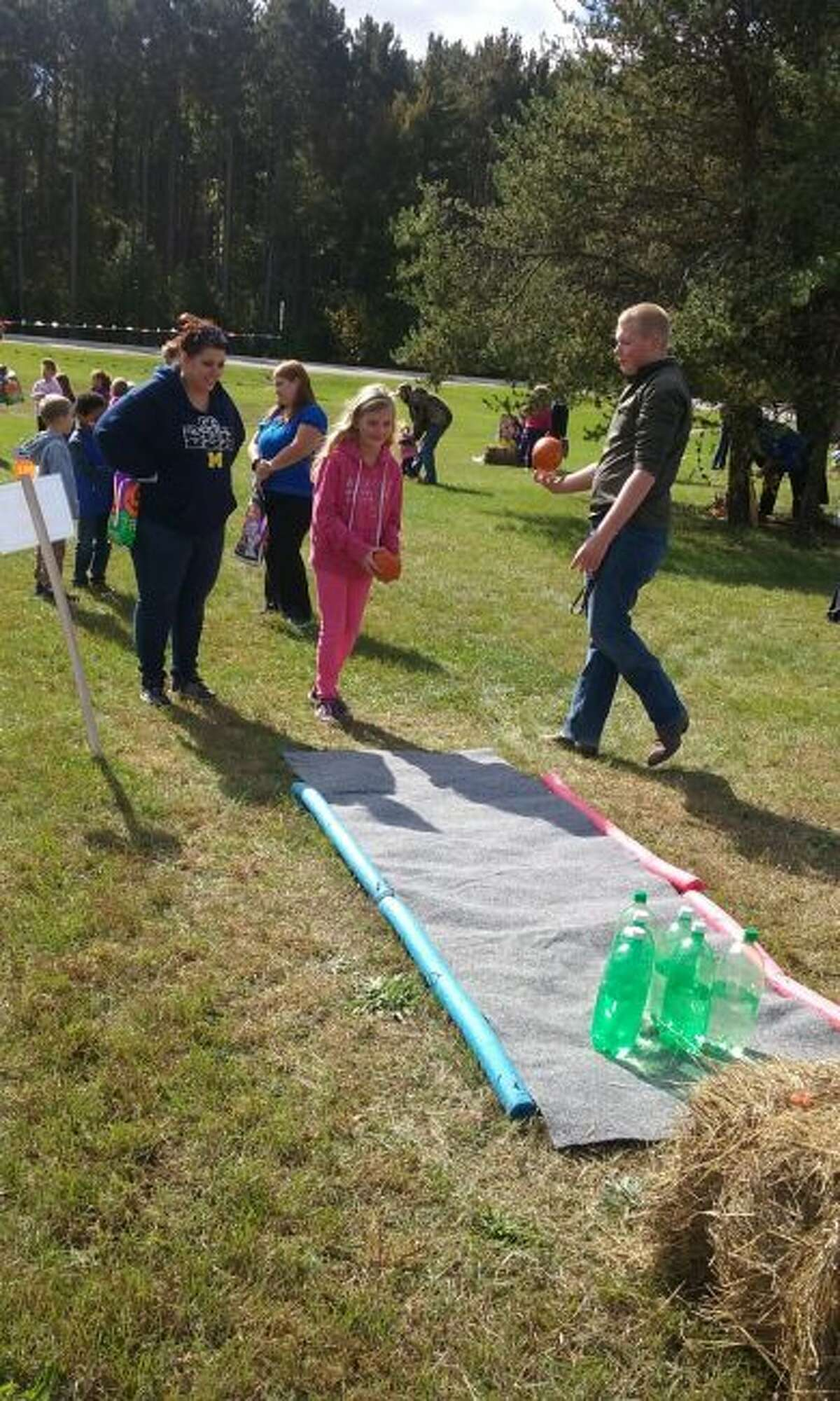Homemade carnival-style children's games are a popular part of the annual Family Fall Festival in Morley. (Courtesy photo)